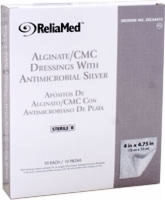 "Reliamed 4""x4.75"" Silver Alginate/cmc Blend,10/box"