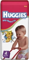 Huggies Snug & Dry Diaper, Size 4, Mega (Bag of 52)