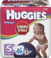Huggies Snug & Dry Diaper, Size 5, Mega (Bag of 46)