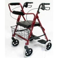 Karman 2-In-1 Luxury Aluminum Rollator & Transporter