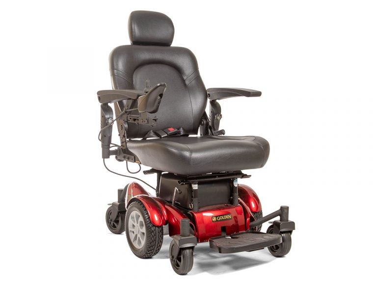 A power wheelchair by Golden Technologies
