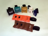 Cuff Rehabilitation Ankle And Wrist Weight 7 Piece Set With Rack - 1 Ea. 1, 2, 3, 4, 5, 7.5, 10