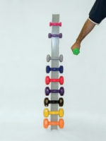 Vinyl Coated Dumbbell Wall Rack - Stores 10 Dumbbells
