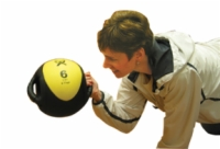 Cando Dual-Handle Medicine Ball - 18 Pound Green
