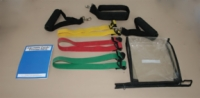 Cando Adjustable Exercise Band Kit - 5 Band (Yellow, Red, Green, Blue, Black)