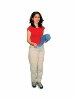 Cando Low Powder Exercise Band - 4-Foot Ready-To-Use - Blue - Heavy