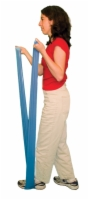 Cando Low Powder Exercise Band - 6 Yard - Blue - Heavy