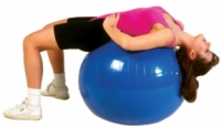 Cando Inflatable Exercise Ball - 34 Inches - Blue - Retail Box