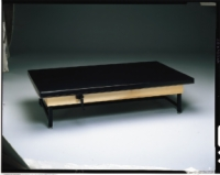 Manual Hi-Lo Upholstered-Topmat Table, 7'X3'