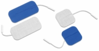 "Dura-Stick Supreme Electrodes, 2"" Square, Blue Gel, 40/Case"