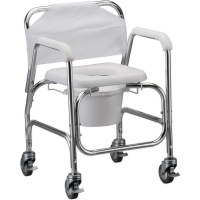 Commode Shower Chair with Wheels