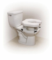 Raised Toilet Seat w/4 Locking Brackets  Open  Padded