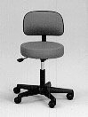 Pneumatic Doctors Stool W/O Back W/O Foot Ring  Black