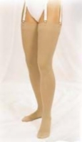 Truform 15-20 Thigh-Hi Taupe Large (pair)