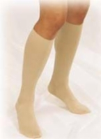 Truform 30-40 Below Knee Closed-Toe Large Beige (pair)