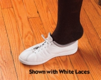 Shoe Laces Elastic White 30  Pk/3 pr.