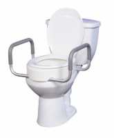 Elevated Toilet Seat w RemArms For Regular Toilet Seat T/F KD