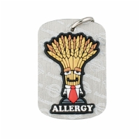 AllerMates Dog Tags Professor Wheatley  Wheat Gluten Allergy