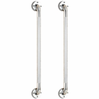 "24"" Wall Grab Bar - Chrome Knurled (Pair)"
