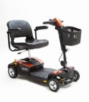 Pride 4 Wheel GoGo LX with CTS Sunburst Orange Color Shroud