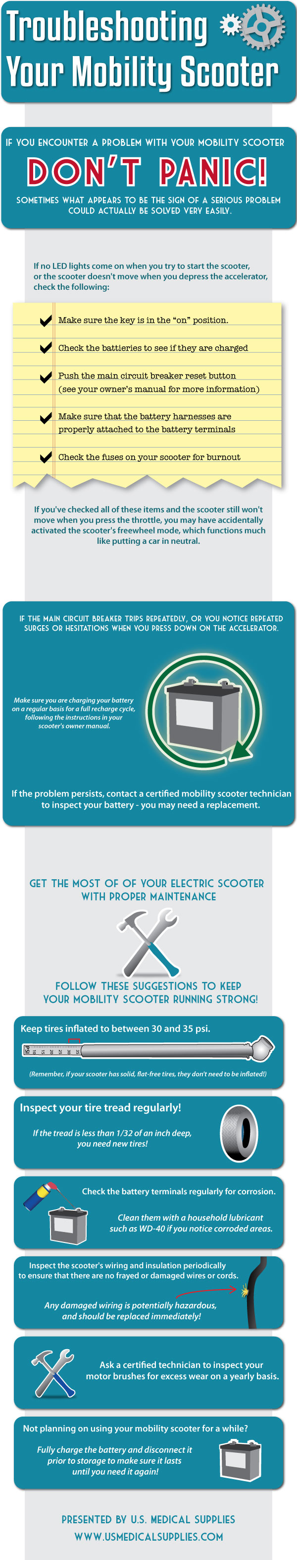 Troubleshooting your scooter