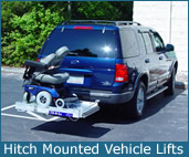 Hitch Mounted Vehicle Lift
