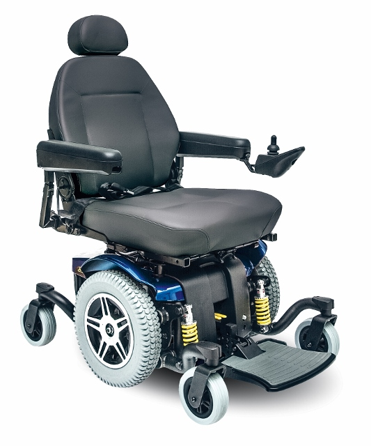 Pride jazzy 614 hd power wheel chair from us medical supplies for How to motorize a wheelchair