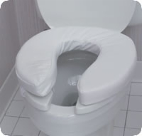 Toilet Seat Velcro Cushion, 2""