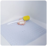 No-skid, Cushioned Shower Mat With Drainage Holes