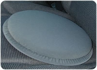 Swivel Seat Cushion, Gray, 300 Lb Weight Capacity