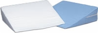 Bed Wedge Cushion, Foam W/blue Cover 12 X 24 X 24