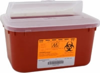 Medium Stackable Sharps Container,1 Gallon,