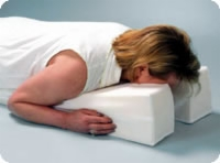 "Face Down Pillow, 29"" X 14"" X 6"", White"