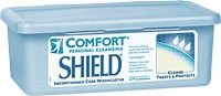 Comfort Shield Perineal Washcloth w/ Dimethicone (Tub of 24)