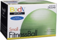 Fitness Ball, 55 Cm, Green, Slow Air Release