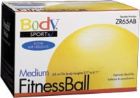 Fitness Ball, 65 Cm, Yellow, Slow Air Release