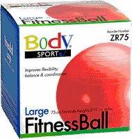 Fitness Ball, 75 Cm, Red