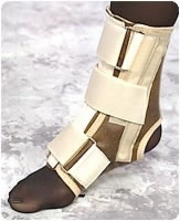"Ankle Splint, Large, 9""- 10 1/2"",beige, Each"