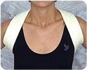 "Beige, Sm (14""-20"") Clavicle Strap W/buckles"