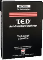 T.e.d. Stockings, Thigh Length, Clsd Toe,med/short