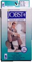 Jobst For Men Thigh High Large, Black, 20-30 Mm Hg