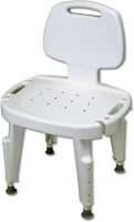 Bath Safe Height Adjustable Shower Seat with Back