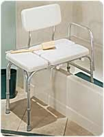 Deluxe Vinyl Padded Tub Transfer Bench W/full Seat