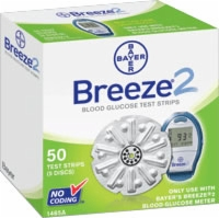 Breeze 2 Blood Glucose Test Strip Disc,50/box