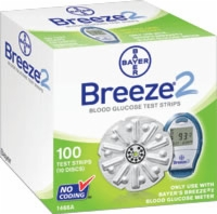 Breeze 2 Blood Glucose Test Strip Disc,100/box