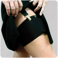 Thigh Thing Pump Holder, Black