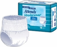 "Attends Pull-ons Underwear 7 Large, 44"" - 54"" (Bag of 18)"