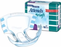 "Attends Briefs Large Waistband, 45"" & Up (Bag of 18)"