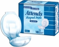 "Attends Shaped Pads Day Plus, 24.5"" (Bag of 24)"
