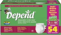 Depend Adjustable Underwear, Small/medium (Bag of 18)